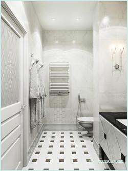 Монохромная ванная комната