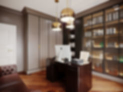 Дизайн кабинета. Американская классика.