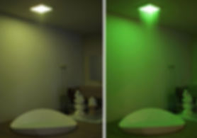 душ с подсветкой