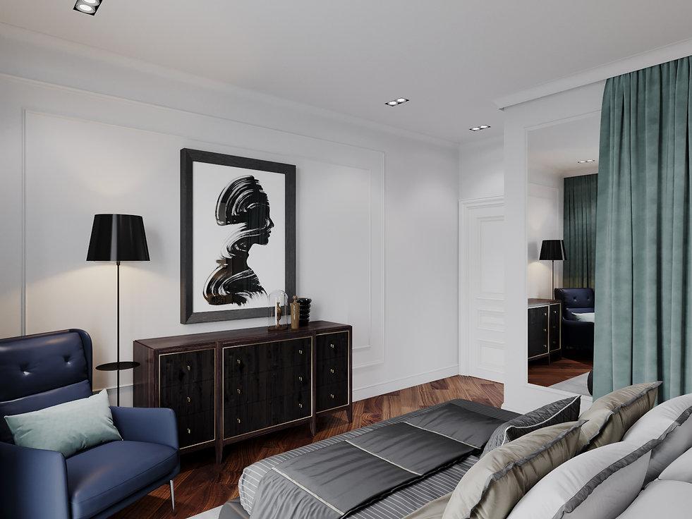 Спальная комната в стиле Американская классика