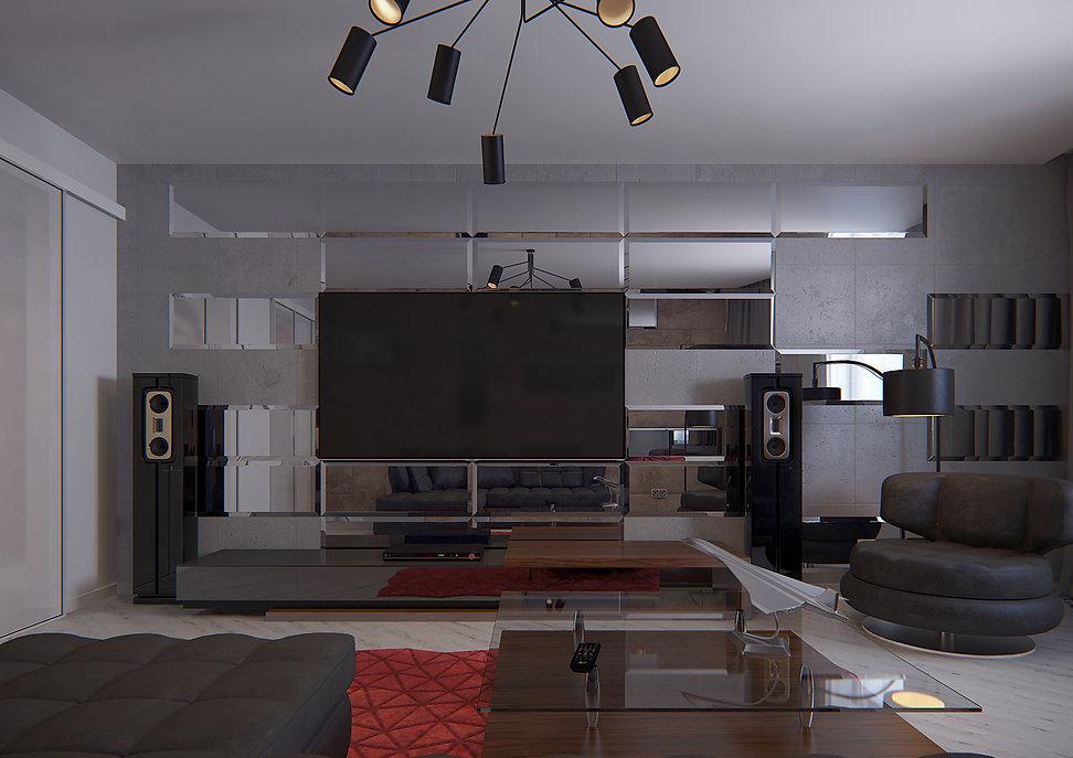 дизайн проект однокомнатной квартиры в Пушкино Московской области
