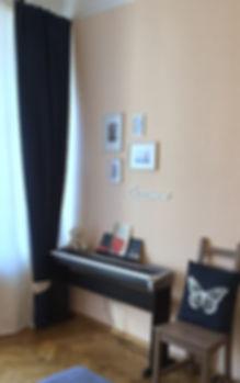 Декорирование на Петроградке от In Interior Studio, музыкальная зона и фото панно Париж