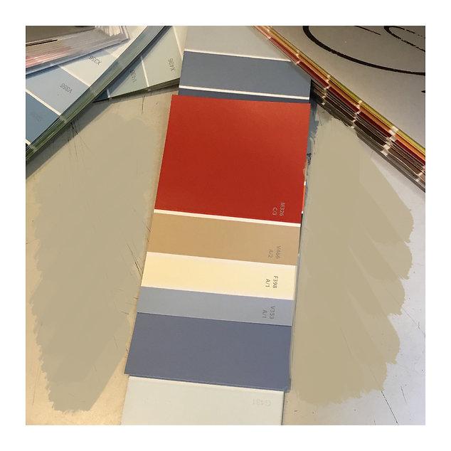Декорирование на Петроградке от In Interior Studio, утверждение цветовой гаммы