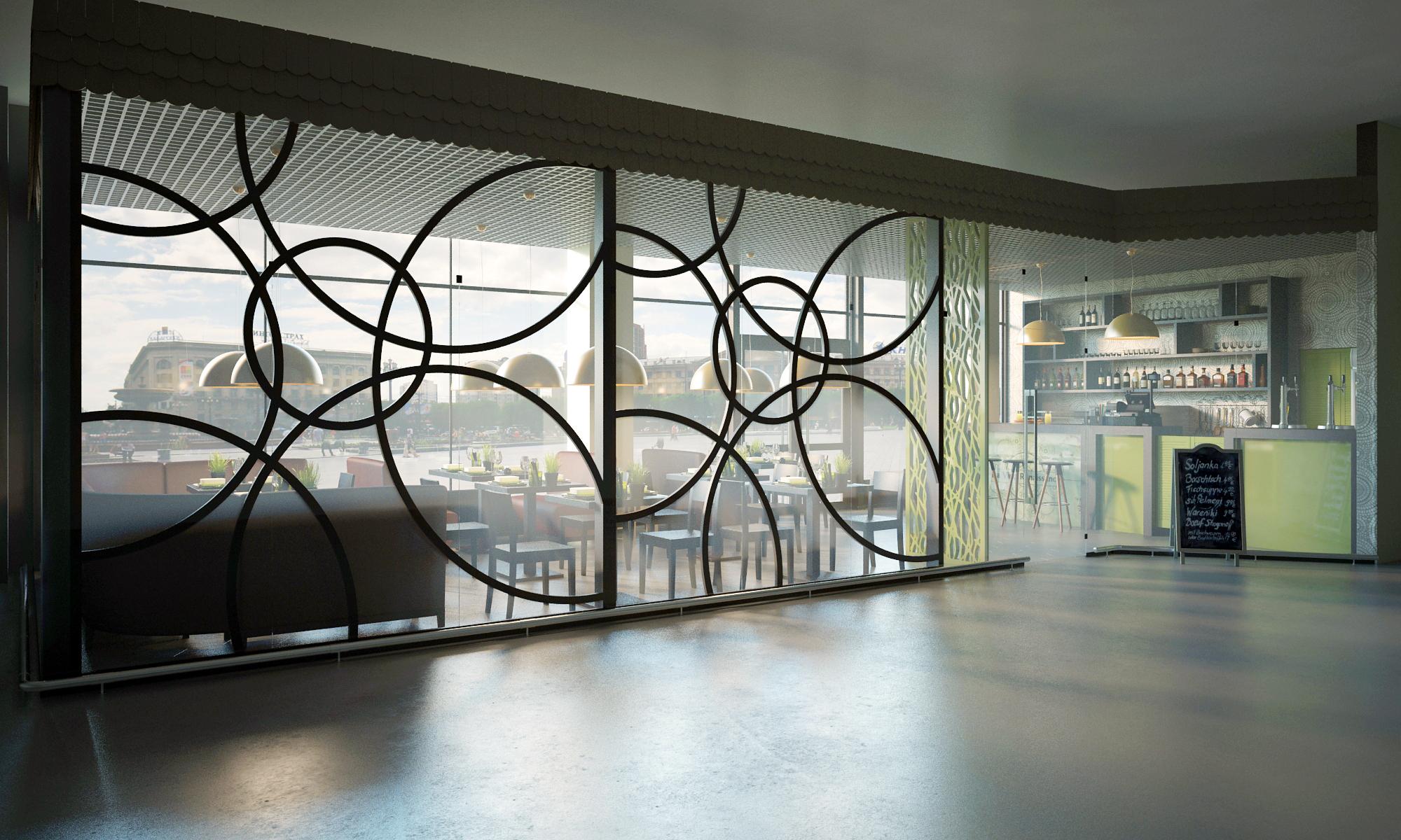 внутренний фасад кафе