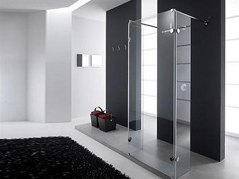 душ с прозрачным стеклом