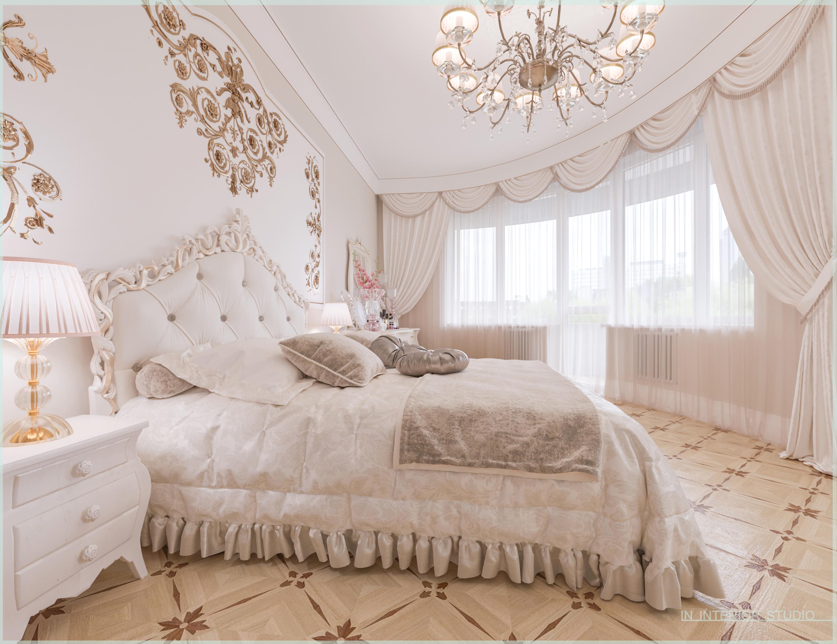 Вид на балкон в спальне