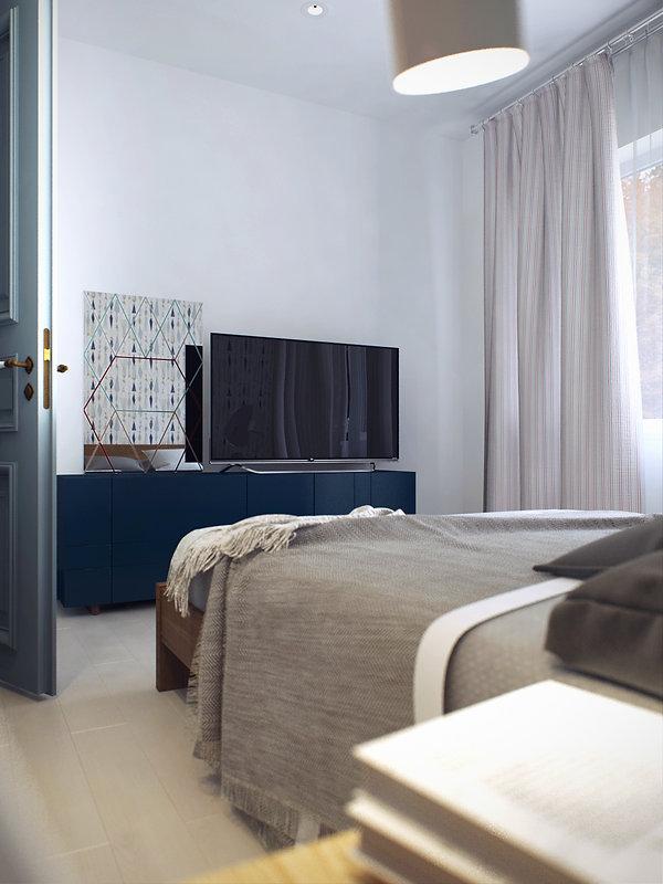 Скандинавский стиль спальной комнаты