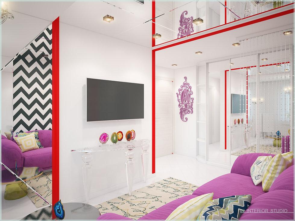 Дизайн гостиной в стиле Поп-арт