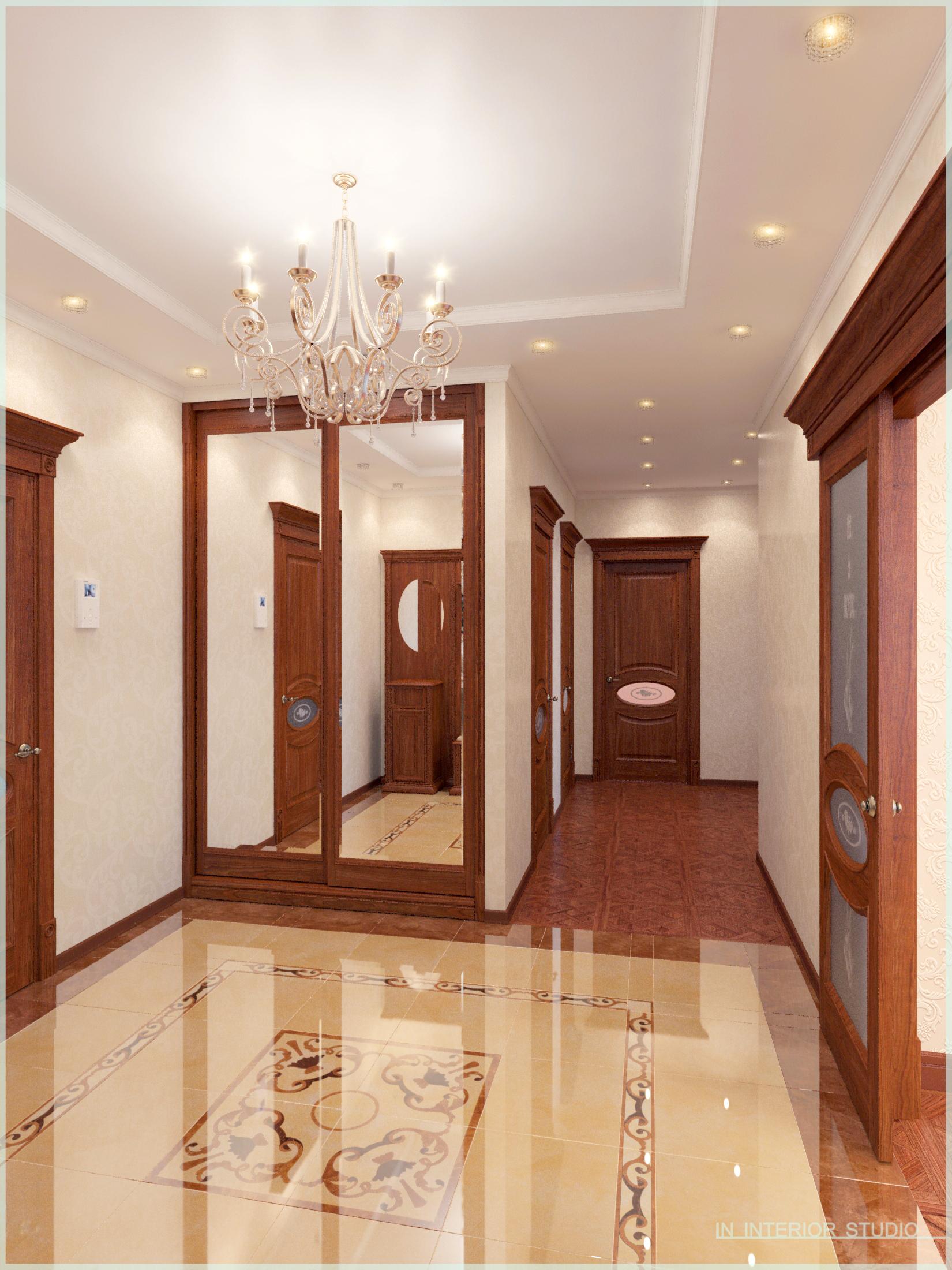 Холл, встроенный шкаф-купе, коридор