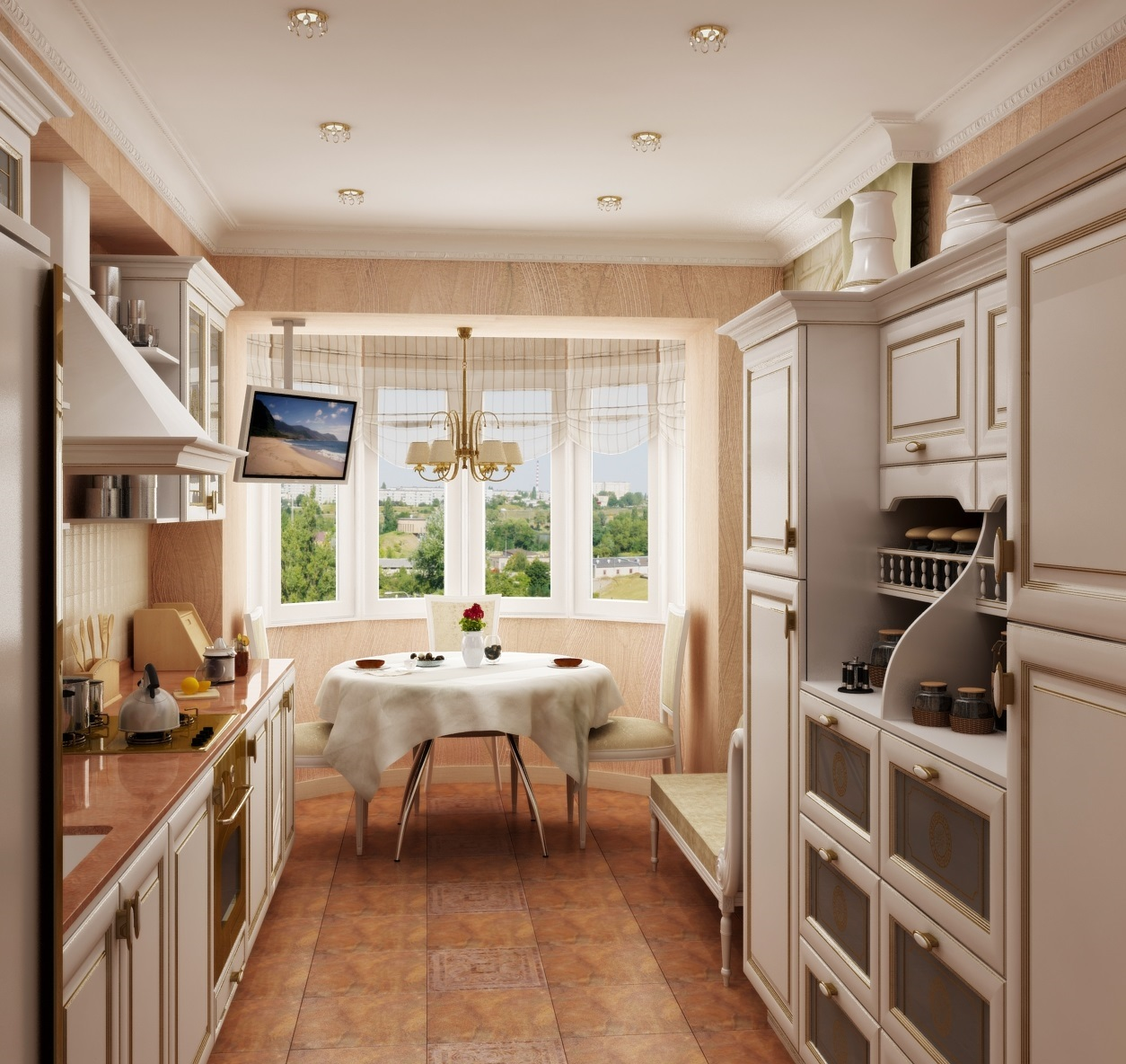 визуализации кухни в стиле прованс