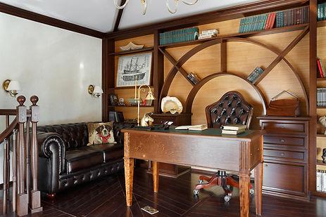 Дизайн кабинета в неоклассике