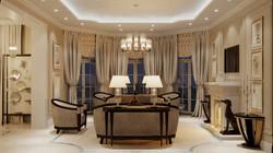 Вечерний вид гостиной