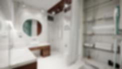 Ванная комната в мраморе. Американская классика