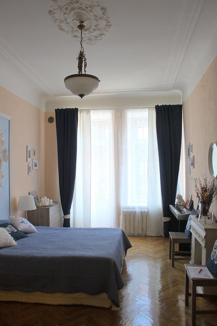 Декорирование на Петроградке от In Interior Studio, плотные шторы
