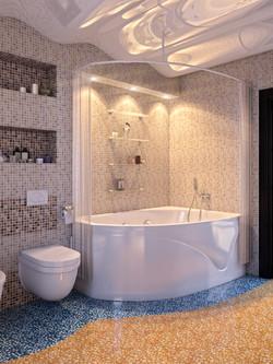 3d эскизы ванной комнаты
