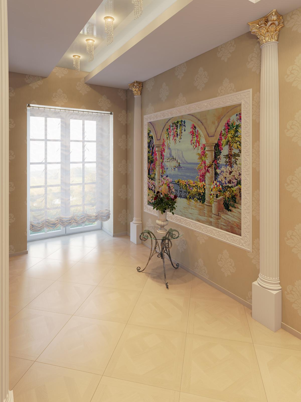 визуализации холла второго этажа кот