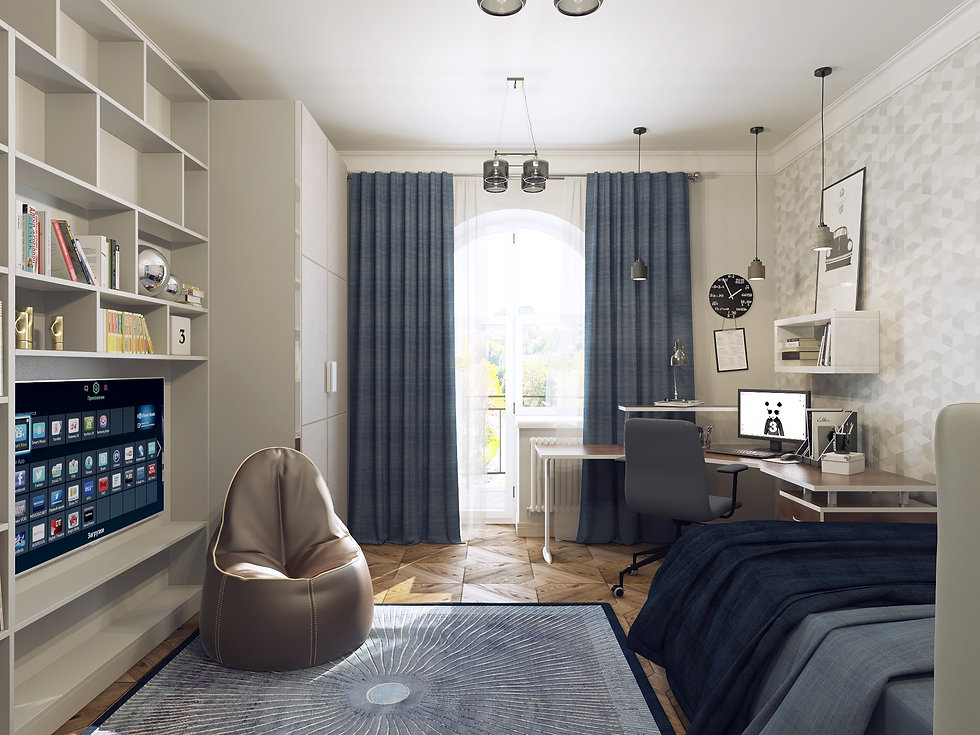 In interior Studio Неоклассика, детская комната