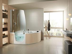 ванна и душ как единое целое