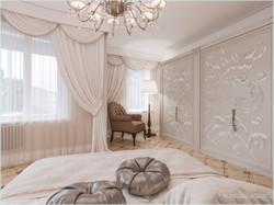 Обзорный вид спальной комнаты
