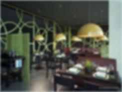 3D визуализации интерьера кафе