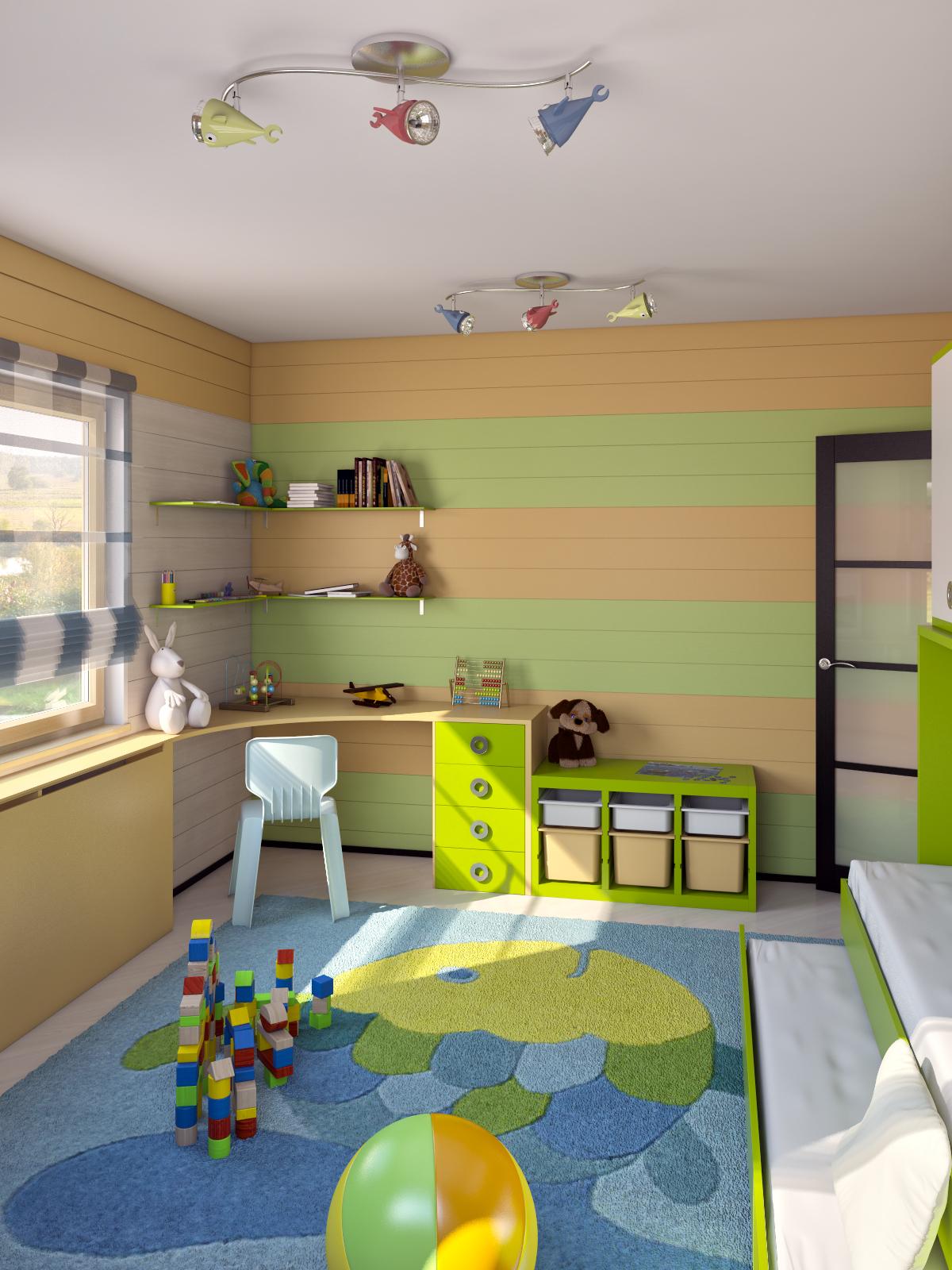 эскизы детской комнаты