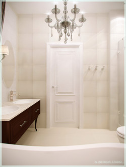 Лаконичная ванная комната