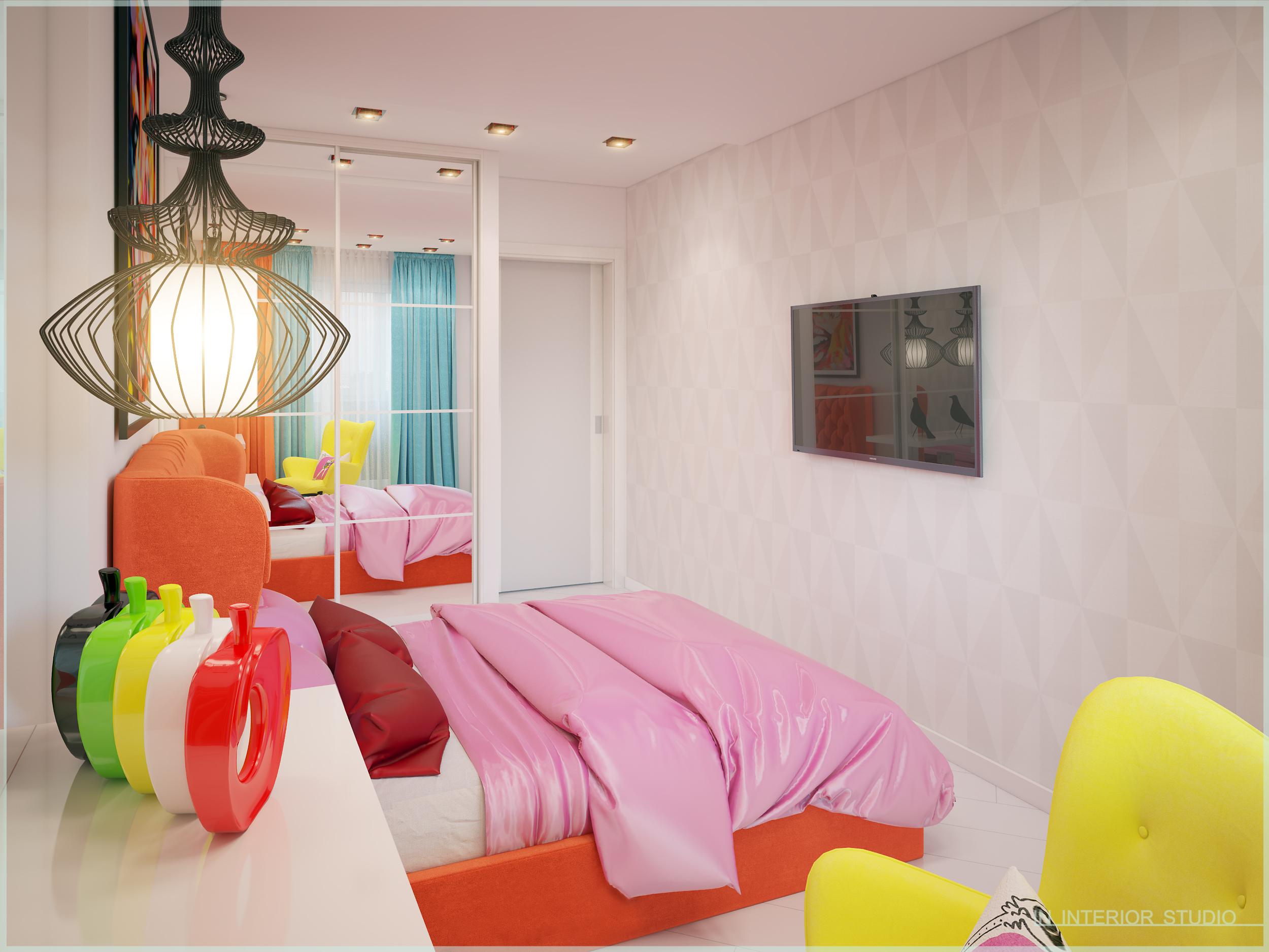 спальная комната в стиле поп-арт