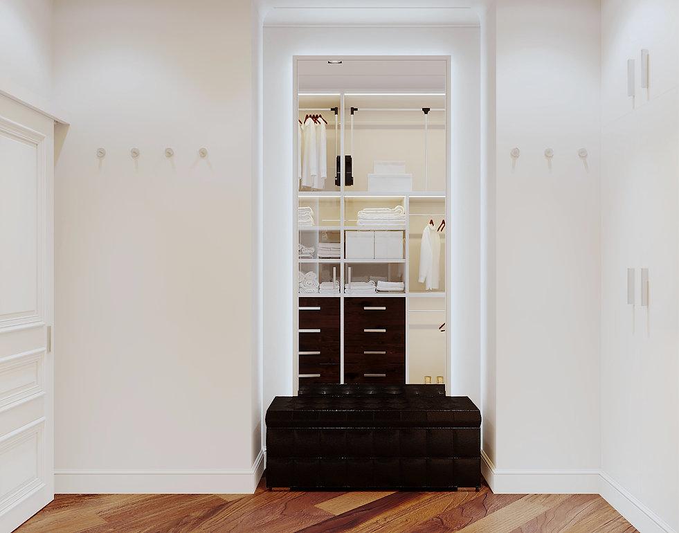 Зеркало в гардеробе. Американская классика.