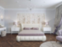 In interior Studio Неоклассика. Спальная комната.
