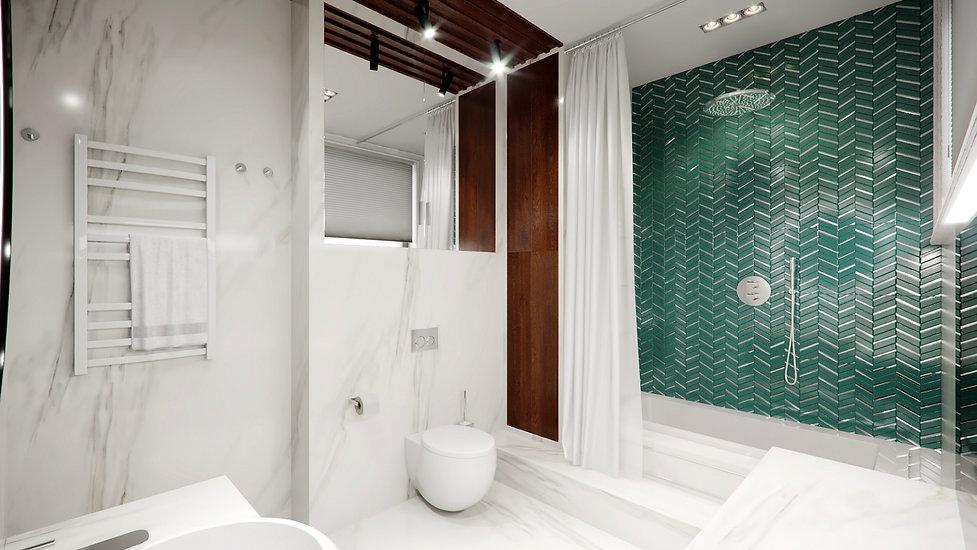 Ванная комната. Американская классика.