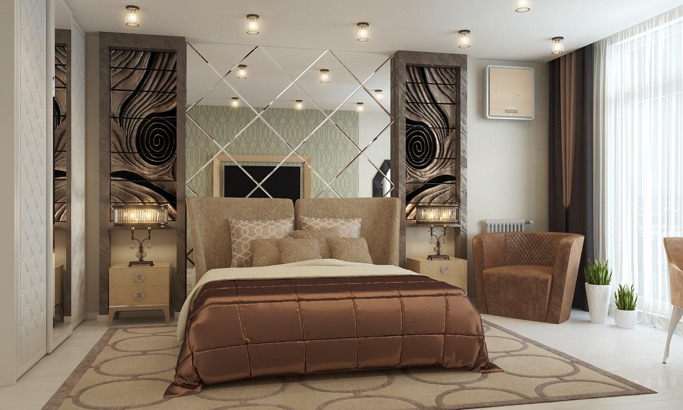 дизайн спальной комнаты в современно