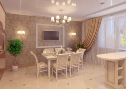 визуализация столовой в доме