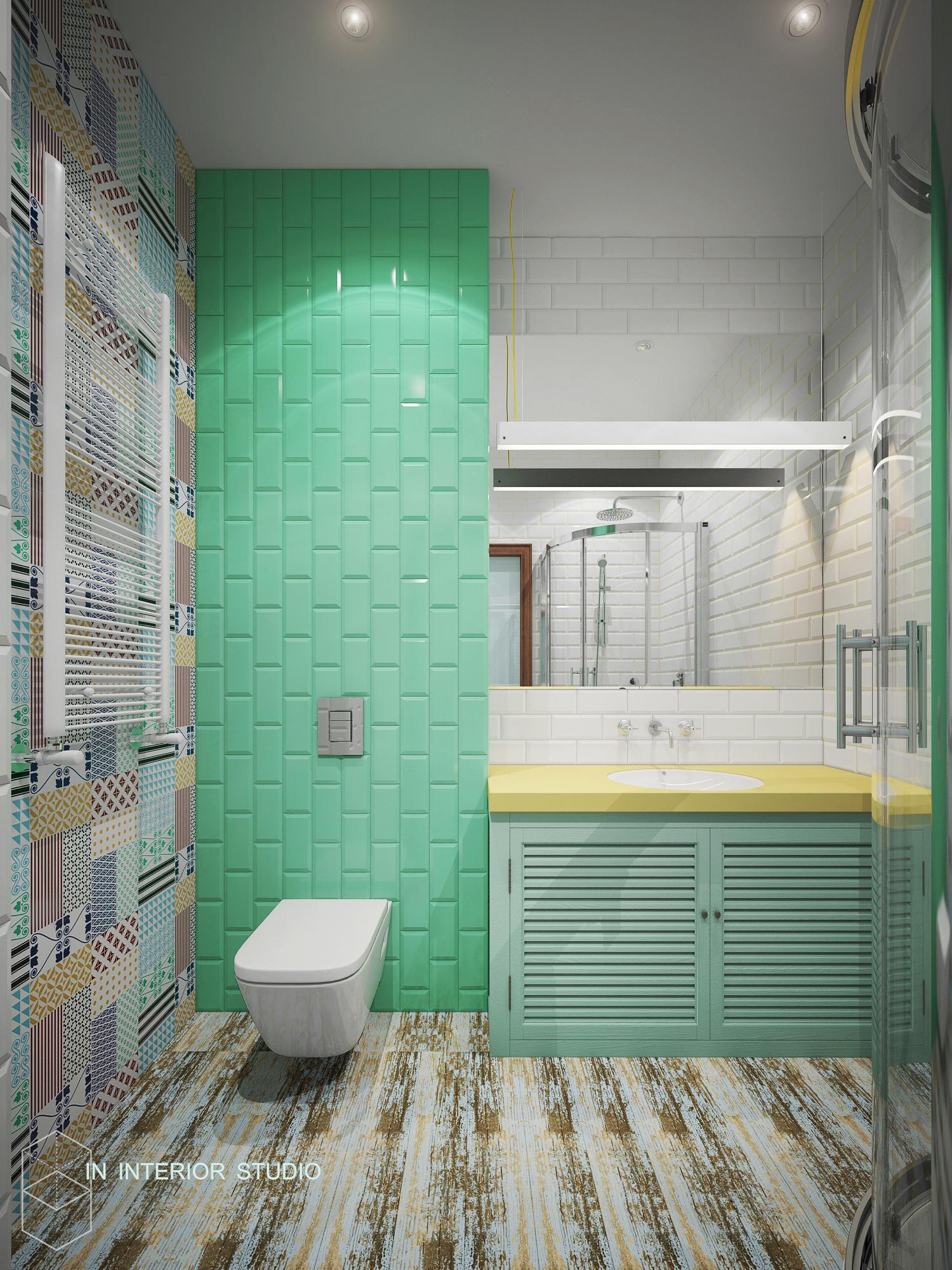 Гостевой санузел, 1 этаж