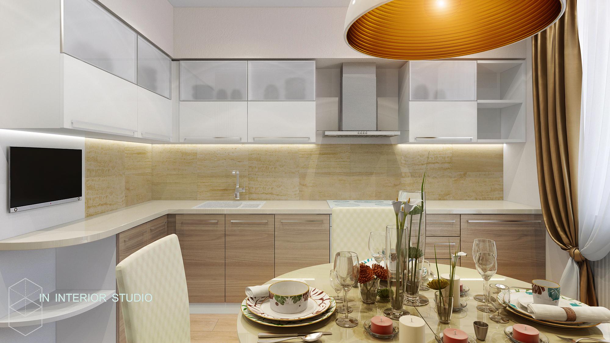 Кухня, вид из-за стола