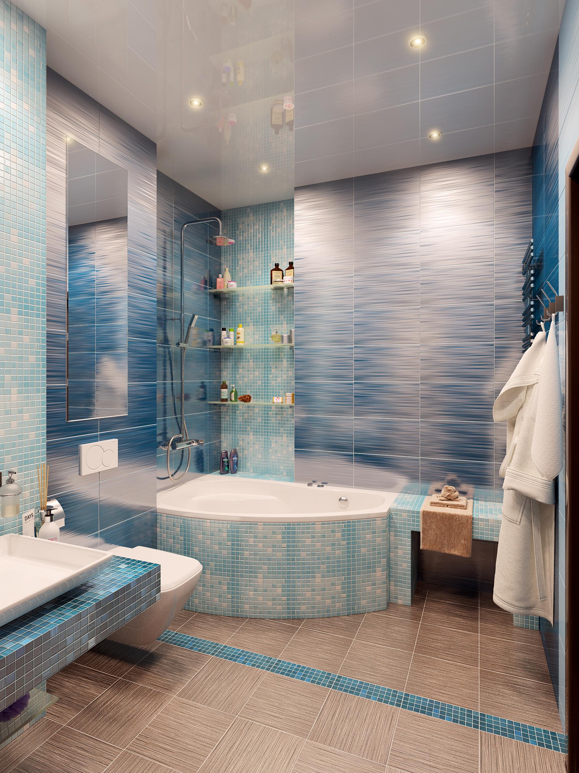 визуализации ванной комнаты