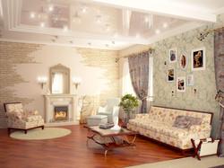 3d гостиной в стиле Прованс