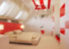 Дизайн спальной комнаты в частном доме от In Interior Studio