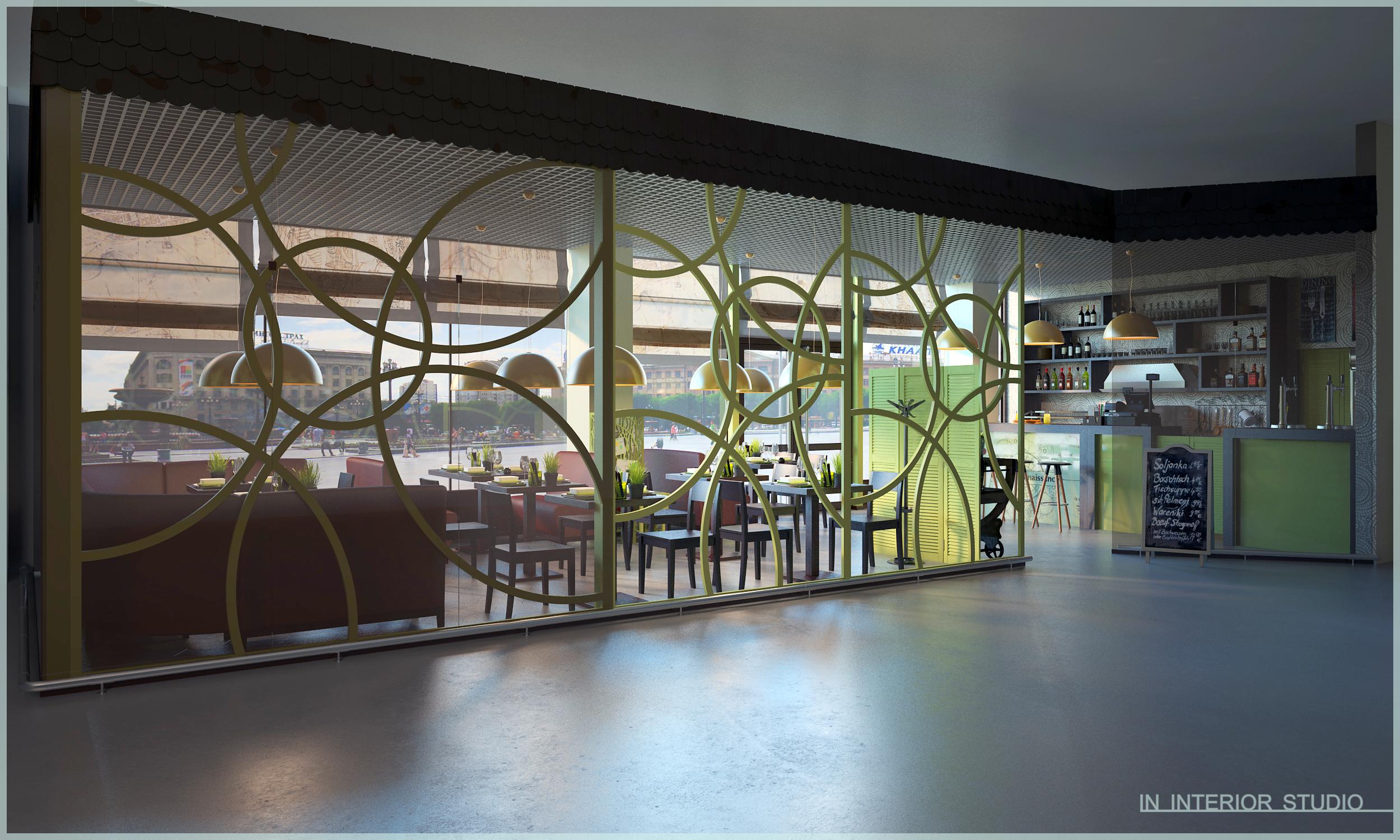 дизайн кафе в торговом центре