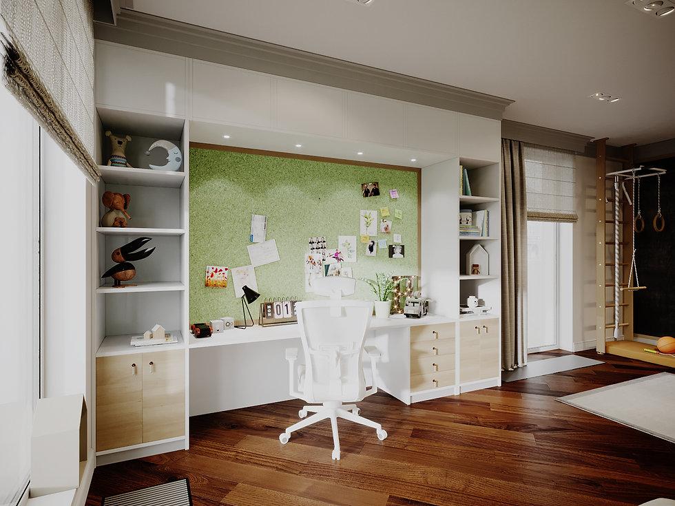 Детская комната в стиле Американской классике.