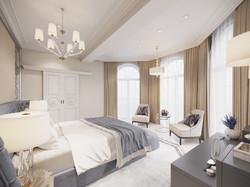 Обзорный вид на спальную комнату