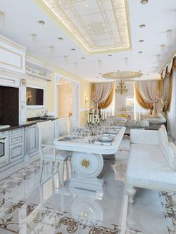 гостиная-кухня в частном доме