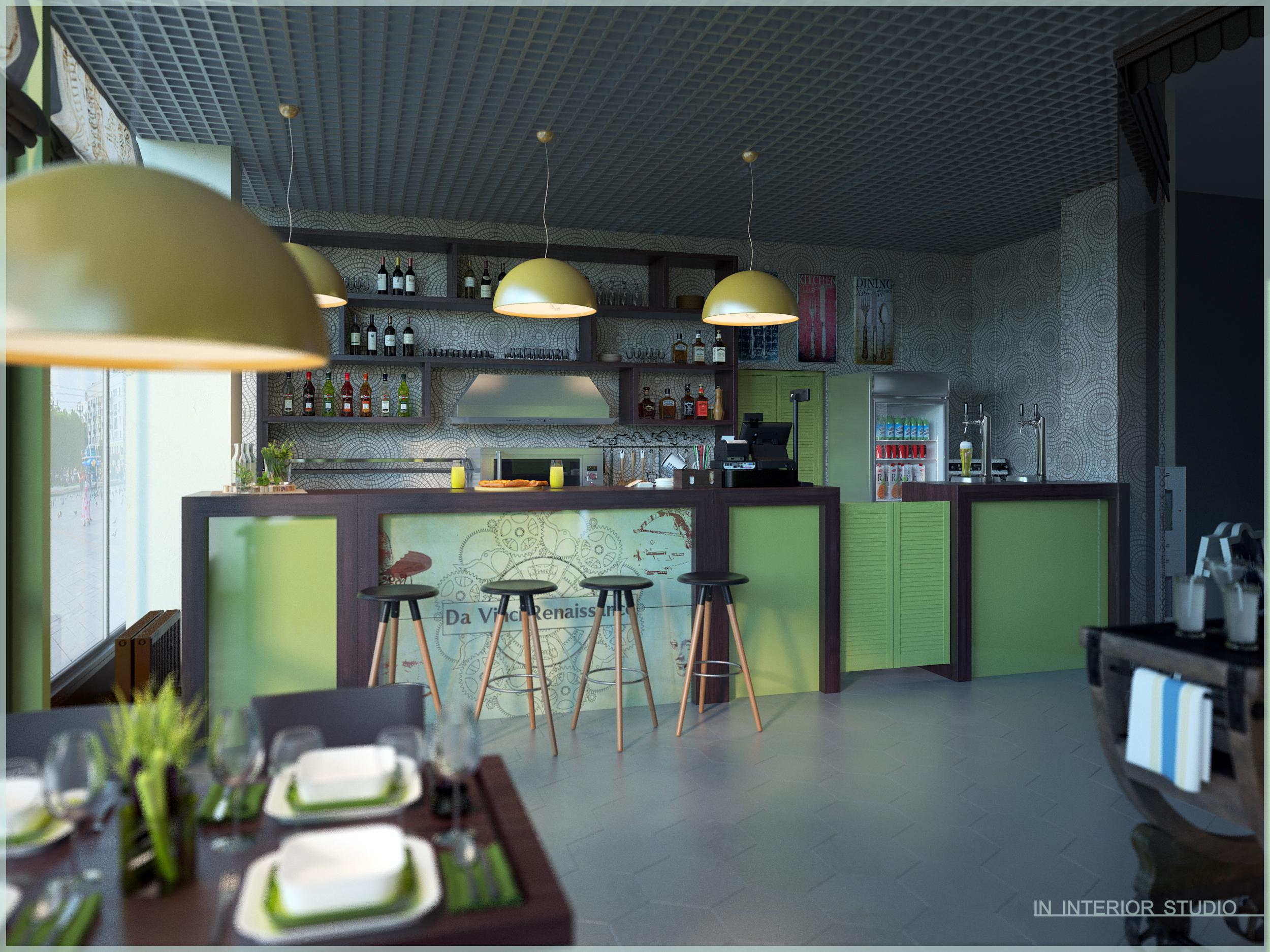 дизайн интерьера кафе-пиццерии