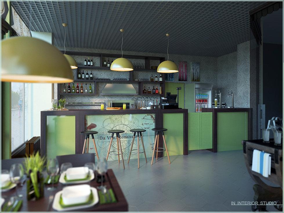 Дизайн кафе Cafe Da Vinci