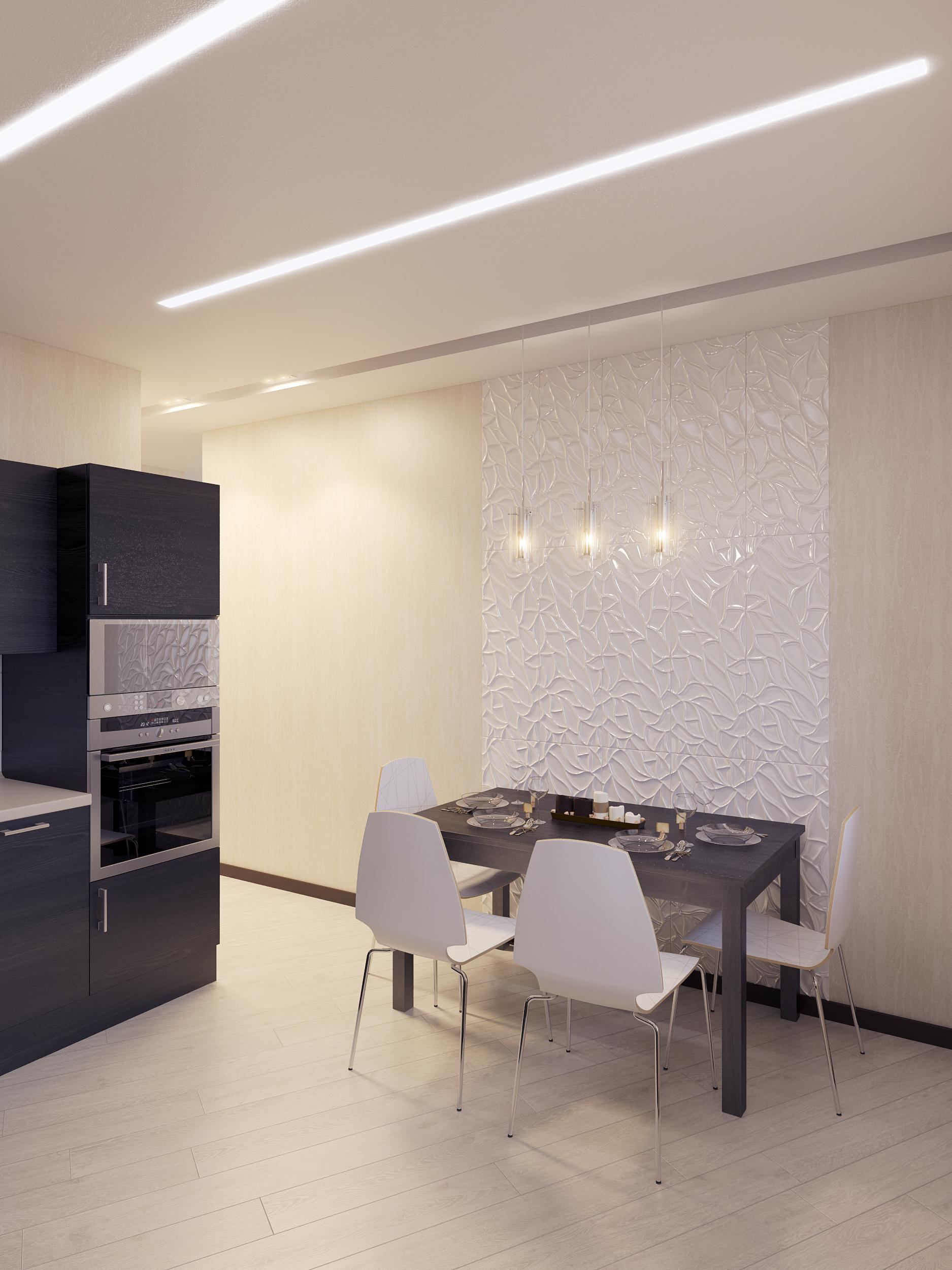 визуализации кухни в минимализме