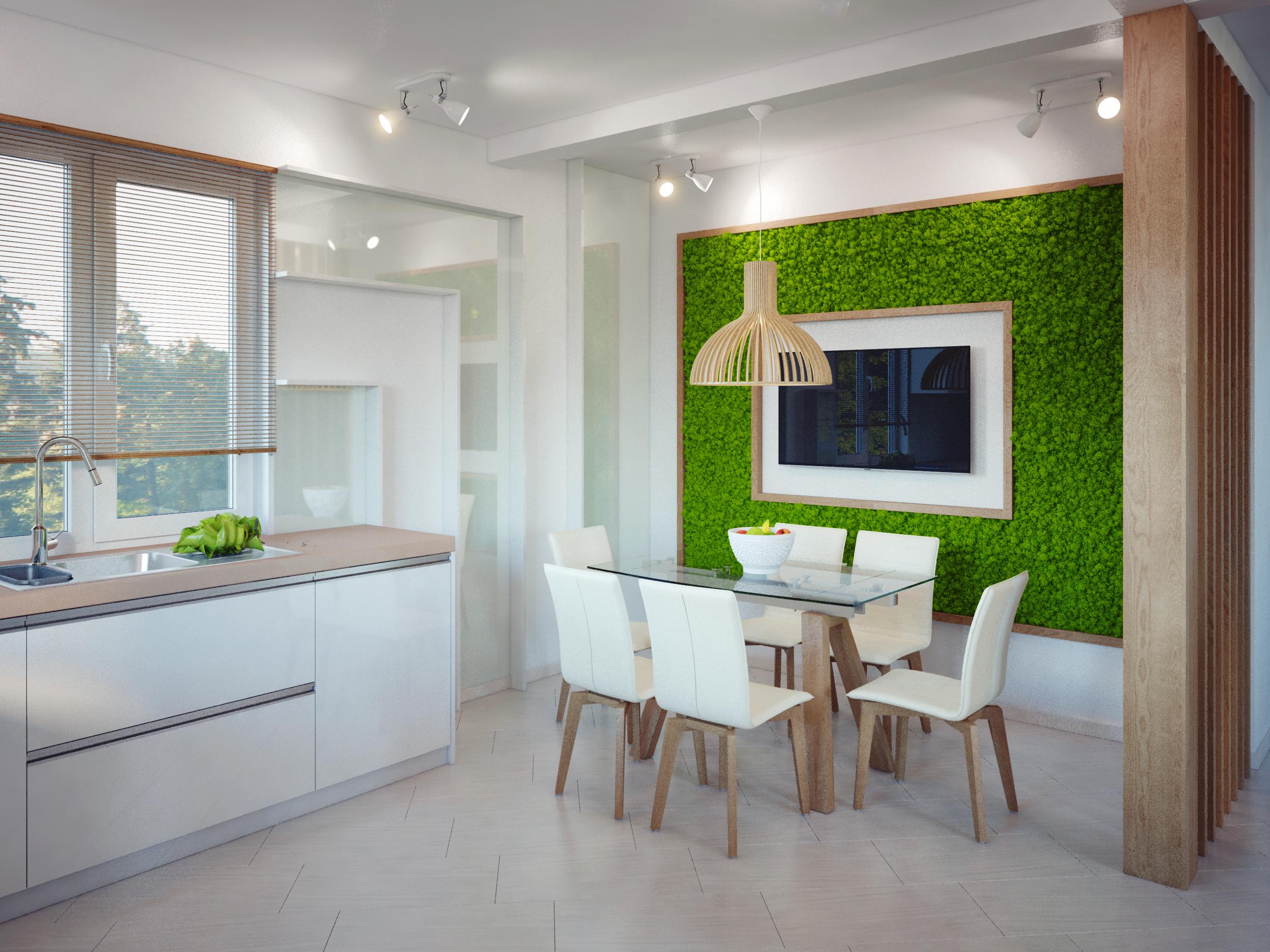 интерьер кухни-столовой в доме