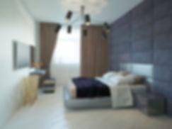 дизайн спальной комнаты от INTERIOR STUDIO