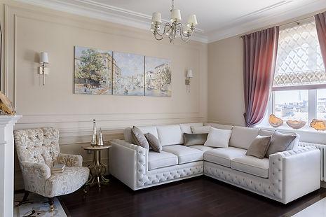Дизайн интерьера гостиной неоклассика