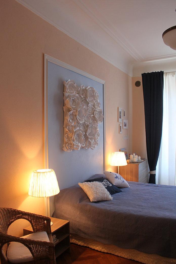Декорирование на Петроградке от In Interior Studio, уют в спальной комнате