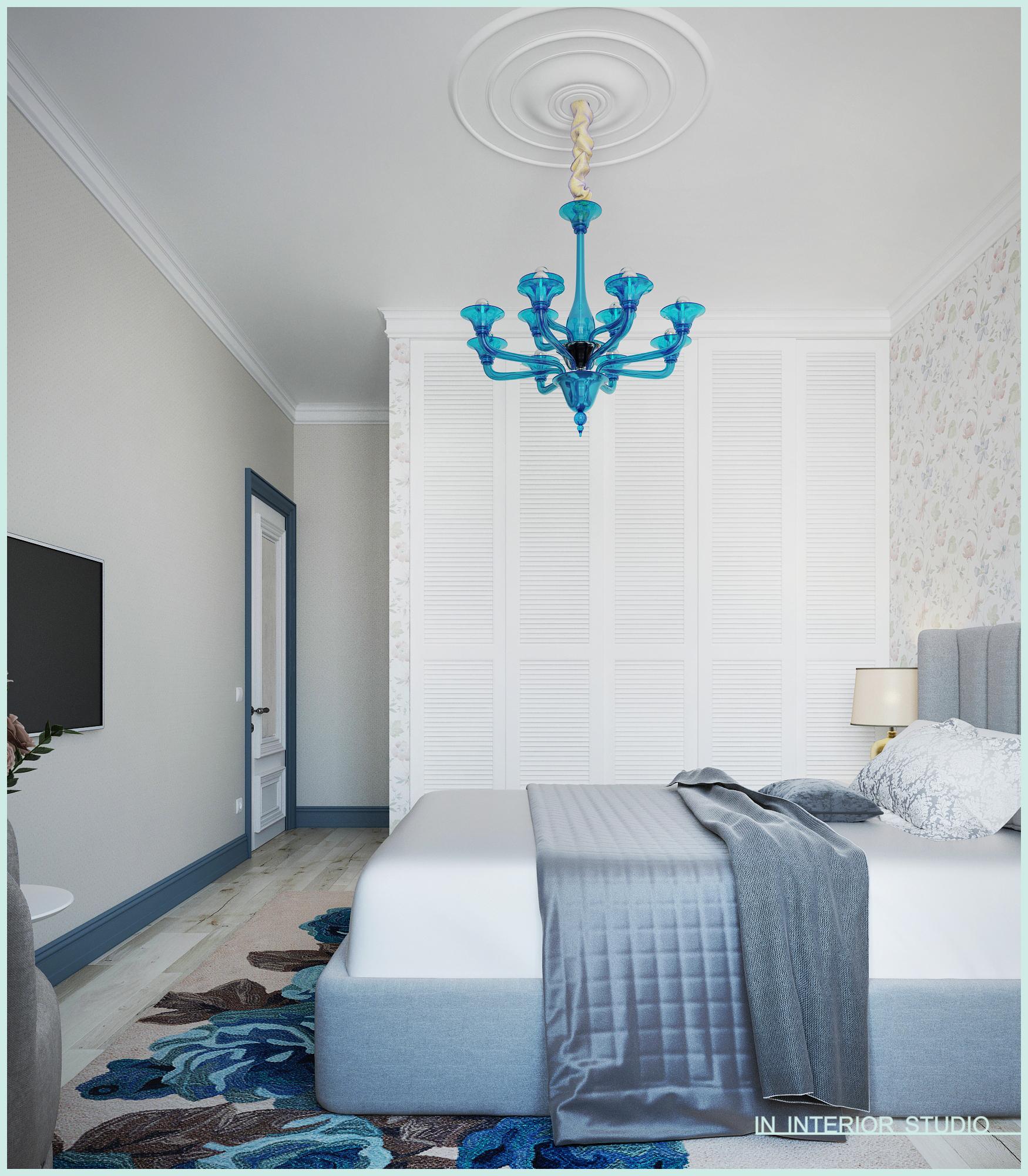 Интересная спальная комната с акцентами