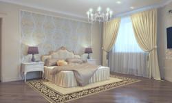 спальная комната в классическом стил